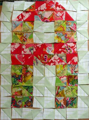 Création d'un caractère typographique, le Kilto, destiné à une déclinaison textile en quilt / patchwork. Chaque lettre est composée de 120 morceaux de tissu. Travail en cours. Voir le caractère et les maquettes —>