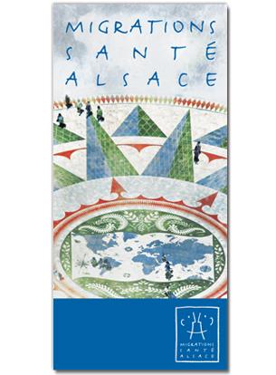 Création d'un logo, d'une charte graphique et d'une plaquette illustrée pour Migrations Santé Alsace, 2011.Directrice de MSA : Liliana SabanIntégration du site internet : Philippe Enderlin Voir la plaquette —>
