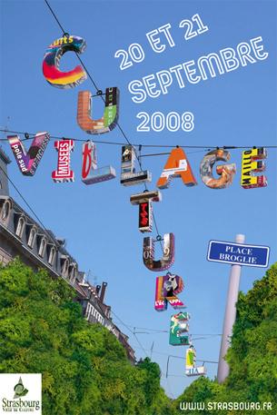 Réalisations des supports de communication pour l'édition 2008 du Village Culturel à Strasbourg.Client : service culturel de la Ville de StrasbourgChargée de communication : Magali KingelschmidtVoir les déclinaisons —>
