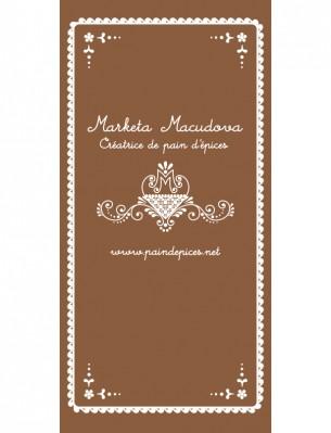 Création des supports de communication de Marketa Makudova, créatrice de pain d'épices.Bannières pour un stand au Koïfhus à Colmar pendant le marché de Noël.
