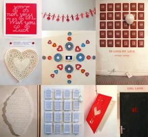 Exposition personnelle à l'Atelier 18 (Paris 10e), en réponse à une carte blanche sur le thème de l'amour et des hasards. Février-mars 2010.Écriture (de cartes postales sur le thème du hasard), broderie, typo et installations.Voir en grand —>