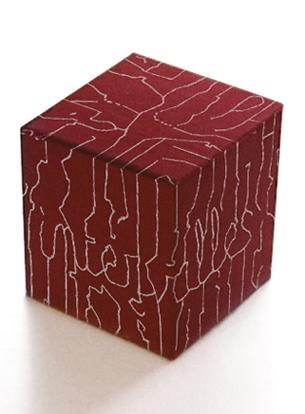 Livre-objet à lecture combinatoire. Projet de diplôme à la HEAR, Strasbourg 2002.Cube se déployant sur un ensemble de 6 livrets, dont les pages se lisent soit dans la continuité, soit en s'entremêlant les unes aux autres pour former des compositions aléatoires (format ouvert 55 x 40 cm). À l'intérieur : travail d'écriture, de conception typographique et de création visuelle.«Des signes s'entrecroisent et se répondent dans un espace physique et imaginaire. On les déchiffre en surface comme en profondeur pour y découvrir des histoires d'écriture et de paysage. Mais sur cette carte, aucun itinéraire recommandé : le lecteur lit et relie lui-même les sentiers qu'il emprunte.» Voir les pages intérieures —>