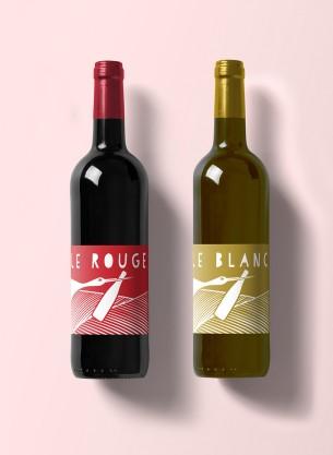 Création d'étiquettes de vin pour la famillle Quelqueger, vignerons indépendants à Durningen.